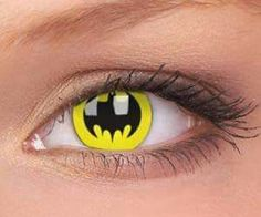 Batman contact lense i would so wear these! for two reasons they are flippin awesome! the reactions they would get hahah love batman! Cool Contacts, Colored Contacts, Eye Contacts, Batman Love, Batman Stuff, Batman Bag, Batman Dress, Batman 1966, Best Contact Lenses