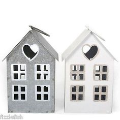 Tin #house shaped tea light /votive holder 17cm candle #holders / #accessories,  View more on the LINK: http://www.zeppy.io/product/gb/2/171954892692/
