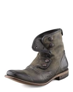 John Varvatos Men's Bowery Button Boot #varvatos #boots #men