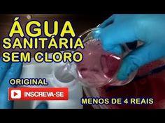 Água Sanitária Sem cloro Original Caseiro em 5 minutos - YouTube