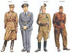 WW2 - Greece - 1940 Oct., Greece, Lieutenant, Artillery Regiment Greece - 1941 Mar., Greece, Wing Commander, Fighter Squadron Hungary - 1941 July, Southern USSR, Sergeant, Hungarian Gendarmerie Hungary - 1943 Jan., Southern USSR, 2nd Lieutenant, 1st Armored Division