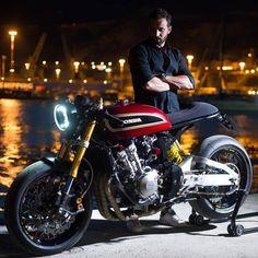 ▪Honda CBF600! www.kaferacers.com Image by @aesse_ . . #bikelife #motorbike #bratstyle #caferacer #builtnotbought #vintage #caferacergram…