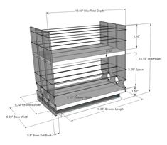 Organize cabinet spices or other small kitchen items in this slim multi-level organizer rack from Vertical Spice. This clear-view rack has 3 slide out drawers. Spice Rack White, Best Spice Rack, Pull Out Spice Rack, Spice Racks, Kitchen Organisation, Kitchen Storage, Kitchen Pantry, Kitchen Cabinets, Spice Rack Vertical