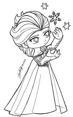 chibi princesses chibi queen elsa frozen by tifayuy princess coloring pagesfree