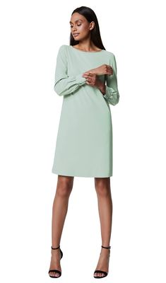 Kirsten - grey moss - Jersey lycra tunic dress   | LaDress