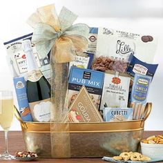 Wine Gift Baskets - Elegant Business Champagne Gift Basket Champagne Gift Baskets, Wine Gift Baskets, Wine Gifts, Wine Baskets