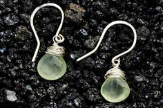 Faceted Prehnite Drop Earrings by Finch and Flower on Etsy, $22.00 Photography by Daniel Nathaniel