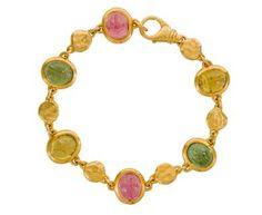 Multi-Stone Scarab Bracelet