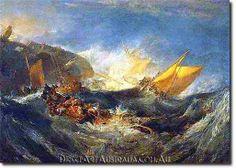 J.W.Turner | Shipwreck of the Minotaur - Direct Art Australia,  Price: $199.00,  Availability: Delivery 10 - 14 days,  Shipping: Free Shipping,  Minimum Size: 50 x 60 cm,  Maximum Size : 100 x 150 cm,  100% 30 day Money Back guarantee.   www.directartaustralia.com.au/