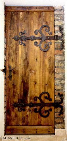 Wood hinged door