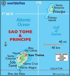 Map of Sao Tome & Principe