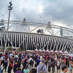 Crowds ready to enter the Olympic Stadium for tonight's Closing Ceremony. (Photo: Anthony Quintano / NBC News) #NBCOlympics