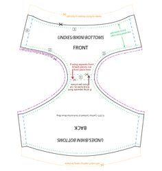 18 Inch Doll Undies/Bikini Bottoms Pattern