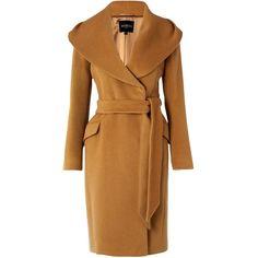 Hobbs Valence Coat, Camel (€230) ❤ liked on Polyvore featuring outerwear, coats, jackets, coats & jackets, hobbs coat, camel coat, hobbs, angora coat e brown coat