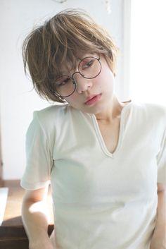 ショート×メガネ