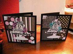 Tamaroo's Funky Scrapbook Blog: Card Patterns #69 - Birthday cards