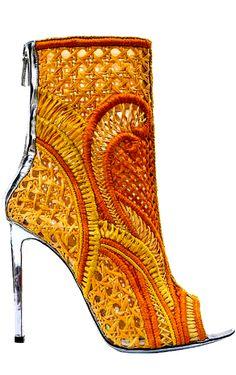 Balmain Spring, Summer Boots 2013 By Nayia Ginn Stilettos, Pumps, Balmain Shoes, Summer Boots, Spring Summer, Spring 2014, Shoe Art, Hot Shoes, Lace Shoes