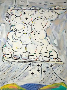 Paterson Ewen, Thunder Cloud as Generator acrylic on canvas, x 183 cm, Art Gallery of Ontario, Toronto. Art Gallery Of Ontario, Canadian Artists, Printmaking, Landscape Paintings, Smurfs, Book Art, Bed Pillows, Sculpture, Canvas