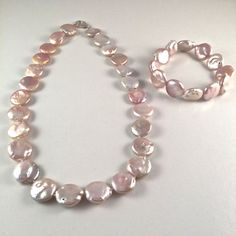 Large Pink Coin Freshwater Pearl by JiaojiaosPearls on Etsy