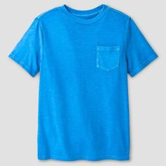 Boys' Garment Dyed Pocket T-Shirt - Cat & Jack, Boy's, Size: