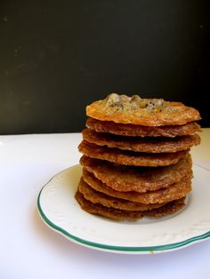 Mary Quite Contrary Bakes: Ultra Thin Chocolate Chip Toffee Cookies