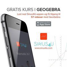 Gratis kurs GeoGebra. 57 videoer på mobilen din. Tilgang når DU trenger det. Last ned #sinus4u #appstore #eksamenslesing #videregående #geometri #tentamen