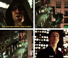"""""""Take your own advice... wear a mask"""" - Oliver and Barry #TheFlash"""