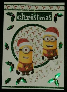 Minions Christmas Card I Made