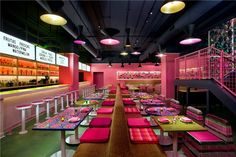 The interior of Distrito, a modern Mexican restaurant in Philadelphia (the photo from its Facebook page)