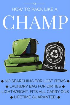 And 30% off this week at Amazon. Use code FLGRAB30 at checkout. Ends Friday. Eco-friendly too! http://www.amazon.com/Packing-Travel-Friendly-Lightweight-Backpack/dp/B016LIF9NW/ref=sr_1_64?ie=UTF8&qid=1451680640&sr=8-64&keywords=packing+cubes+for+travel
