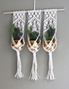 Triple Macrame Plant Hanger Boho Decor Boho Gift Decor