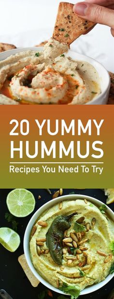 Hummus is one of those things thatâs just better homemade. Whatever the brand you buy you'll always be disappointed. But the good thing is that hummus is so easy to make at home. Here's 20 delicious hummus recipes to try at home.