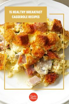 Start your day off right with a healthy breakfast casserole. Here are some tasty ideas. Brunch Recipes, Breakfast Recipes, Healthy Breakfast Casserole, Casserole Recipes, Tasty, Ideas, Food, Crock Pot Recipes, Essen