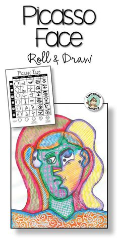 Use this fun Roll & Draw to have students draw a face in the style of Pablo Picasso! Drawing Games For Kids, Art Activities For Kids, History Lessons For Kids, Art Lessons Elementary, Picasso Art, Pablo Picasso, Art Classroom Management, Student Drawing, Collage Art Mixed Media