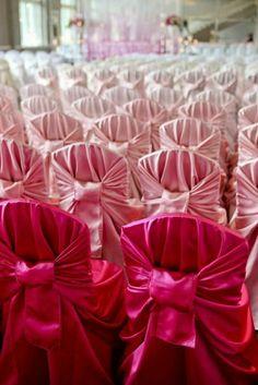 Pink Wedding Theme, Mod Wedding, Wedding Themes, Wedding Designs, Wedding Decorations, Wedding Chairs, Wedding Seating, Wedding Ceremony, Ceremony Seating