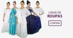 Casa do Cigano - A Maior Loja de Umbanda e Candomblé do Brasil Clothes Line, Red And Blue, African Outfits