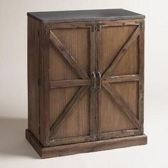 Wood Farmhouse Barn Door Bar | World Market