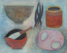 Vivienne Williams, Kitchen Still Life with Eggs and Beans, (2014)