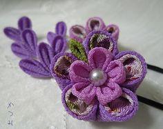 katumi made *つまみ細工の簪(かんざし)髪飾り、つまみ細工のshop*つまみ細工ヘヤーピン完成品