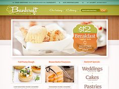 Bakery - quaint little site design. minimal in approach packed with the sweet tooth's delight - #web #design #food