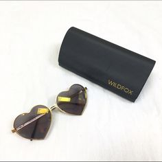 Wildfox Lolita sunglasses Wildfox Lolita gold sunglasses. Worn twice. Comes with case. You will love them  Not Ray-Ban!!   No trades // Only Poshmark transactions   Shar  Insta // Pinterest: sharguerieri Ray-Ban Accessories Sunglasses