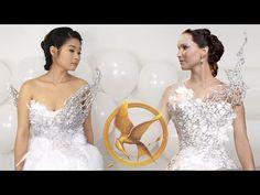 DIY Hunger Games Catching Fire Katniss Everdeen Wedding Dress | Halloween | Eva Chung - YouTube
