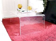 Excellent Condition 1960's Lucite/Plexiglass Table in 747 10th Avenue, New York, NY 10019, USA ~ Apartment Therapy Classifieds
