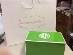 Pretty jewelry box from Monograms off Madison