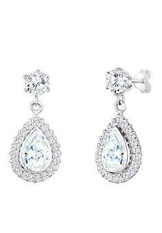 Elli Ohrringe »Tropfen Swarovski Kristalle«