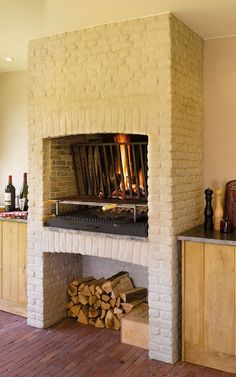 Bouvry | BBQ Outdoor Grill Area, Outdoor Oven, Asado Grill, Bbq Grill, Parilla Grill, Built In Braai, Cottage Kitchens, Tiny House Living, Pergola Patio
