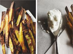 curry spiced pommes frites & cucumber dip ++ sprouted kitchen #glutenfree