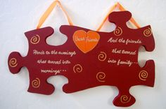 Hanging Puzzle Piece Best Friend Sign por LovelyLetterBoutique