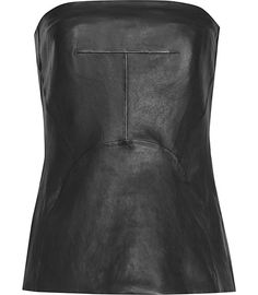 Reiss Lilibet Leather Bustier Top | Clothing