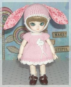Jun Planning Ai Dolls Pink Bunny Dress and by JCsTinyTreasures, $21.00